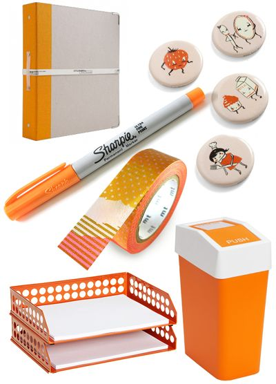 orange office goodies / How About Orange