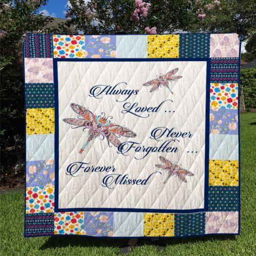 Download Dragonfly Always Loved Never Forgotten Fleece Blanket ...
