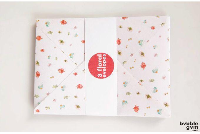 Floral Envelope Set by bvbblegvm