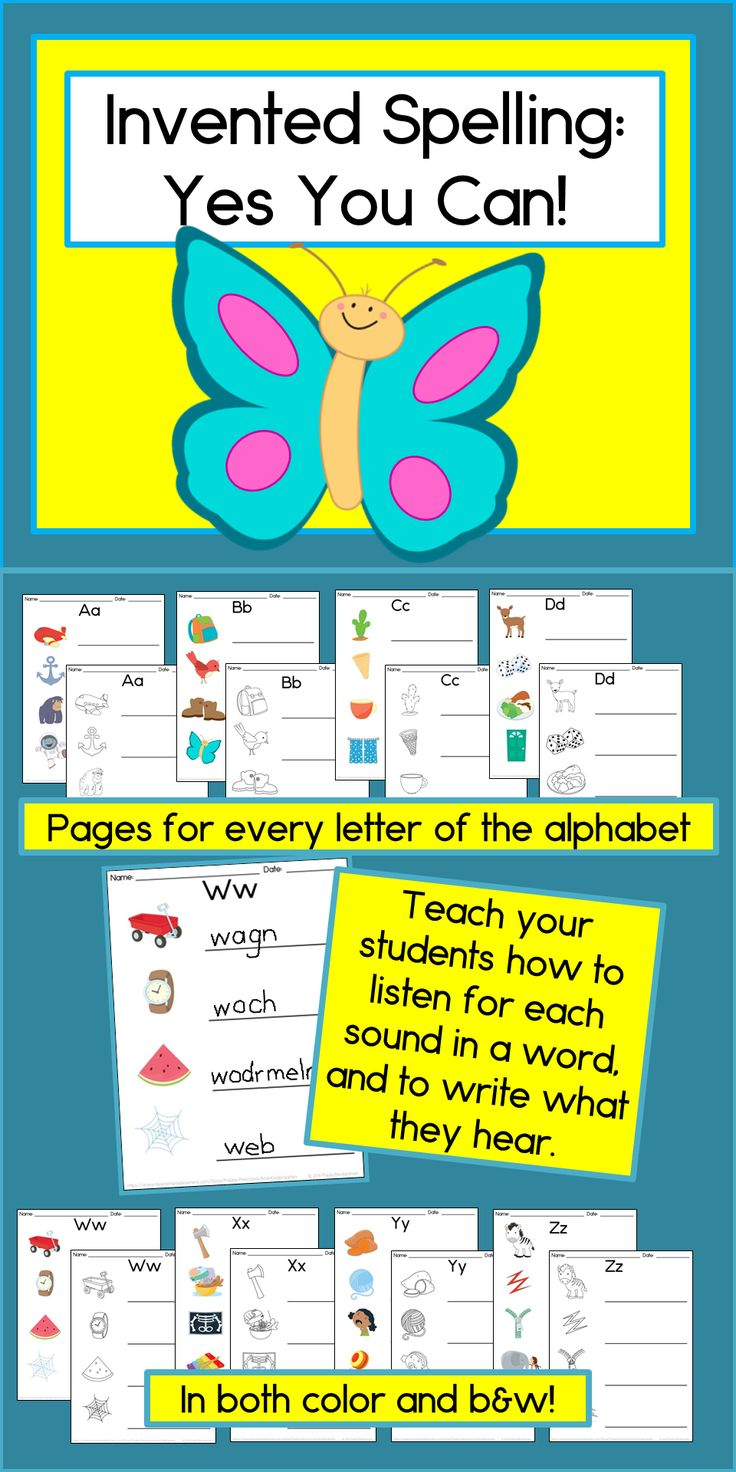 Do your kindergarten students need help learning to listen to the sounds in words, and to write them?  These fun activities made a HUGE difference for my students!  TpT $