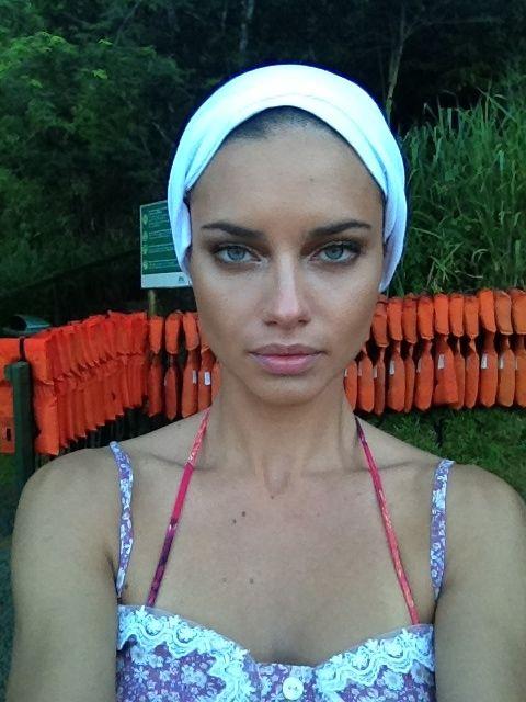 adriana lima - no makeup