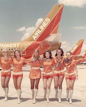 La auxiliar de vuelo