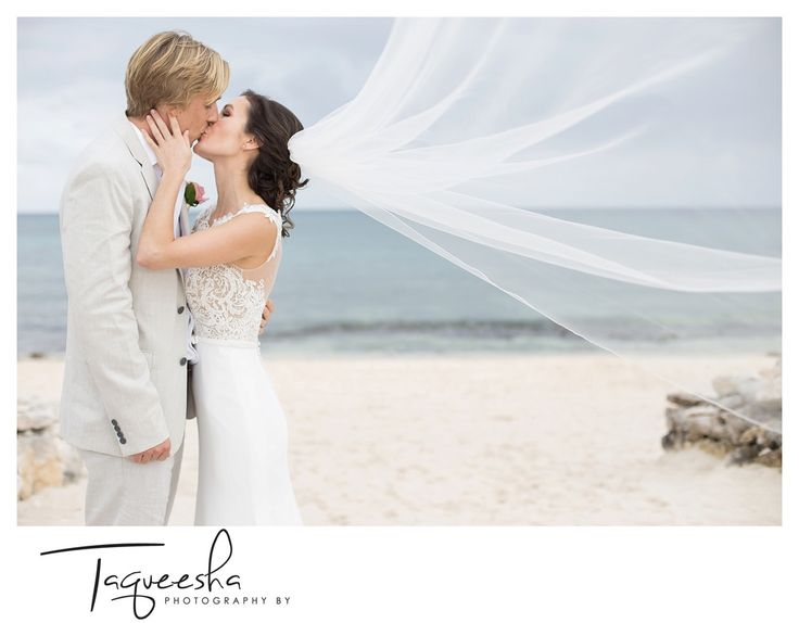 Soft and romantic beach wedding photos  Photography by Taqueesha
