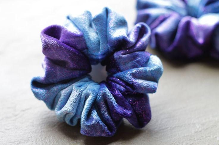 Handmade Cute Sparkly Tie-Dye Scrunchie by Rusticmintx on Etsy
