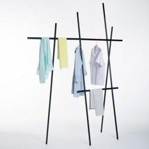 Clothes rack by Martha Schwindling  looks like a bean trellis