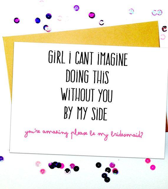 Cute Sweet Bridesmaid Card/Bridesmaid Invitation Card/Bridesmaid Proposal/Bridesmaid Invitation/Will You Be My Bridesmaid Card/asking