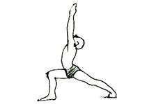 Asana which improves blood circulation and also improves body balancing - Veerasana (Warrior Pose)