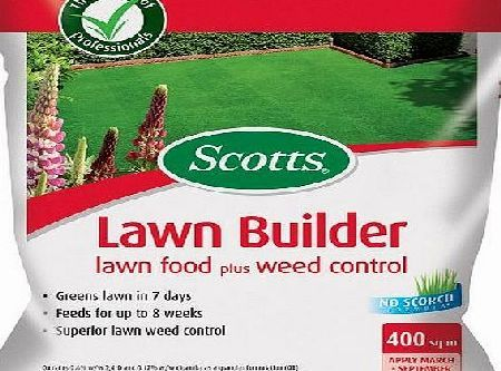Scotts Miracle-Gro Scotts Lawn Builder 8 kg Lawn Food Plus Weed Control Time release nitrogen - greens up fast with season long results. Kills daisies, dandelions and many other broad-leaved weeds. No surge growth. No scorch fertiliser, no ne (Barcode EAN = 5010272092950) http://www.comparestoreprices.co.uk/latest1/scotts-miracle-gro-scotts-lawn-builder-8-kg-lawn-food-plus-weed-control.asp