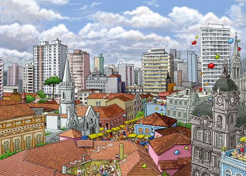 Curitiba - Centro  by Cesar Lobo