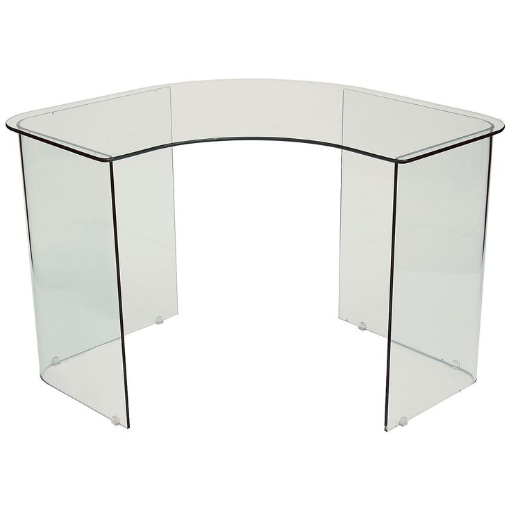 Buy John Lewis Staten Glass Corner Desk | John Lewis