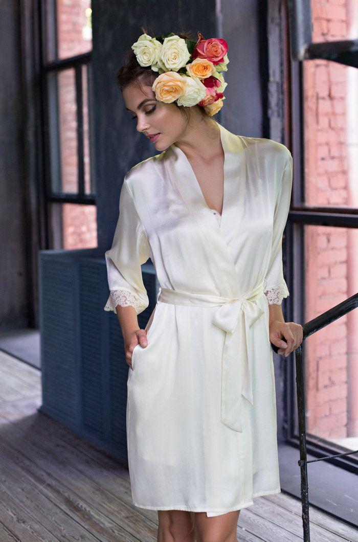 Халат кимоно MIA-MIA - Kristy, 100% шелк