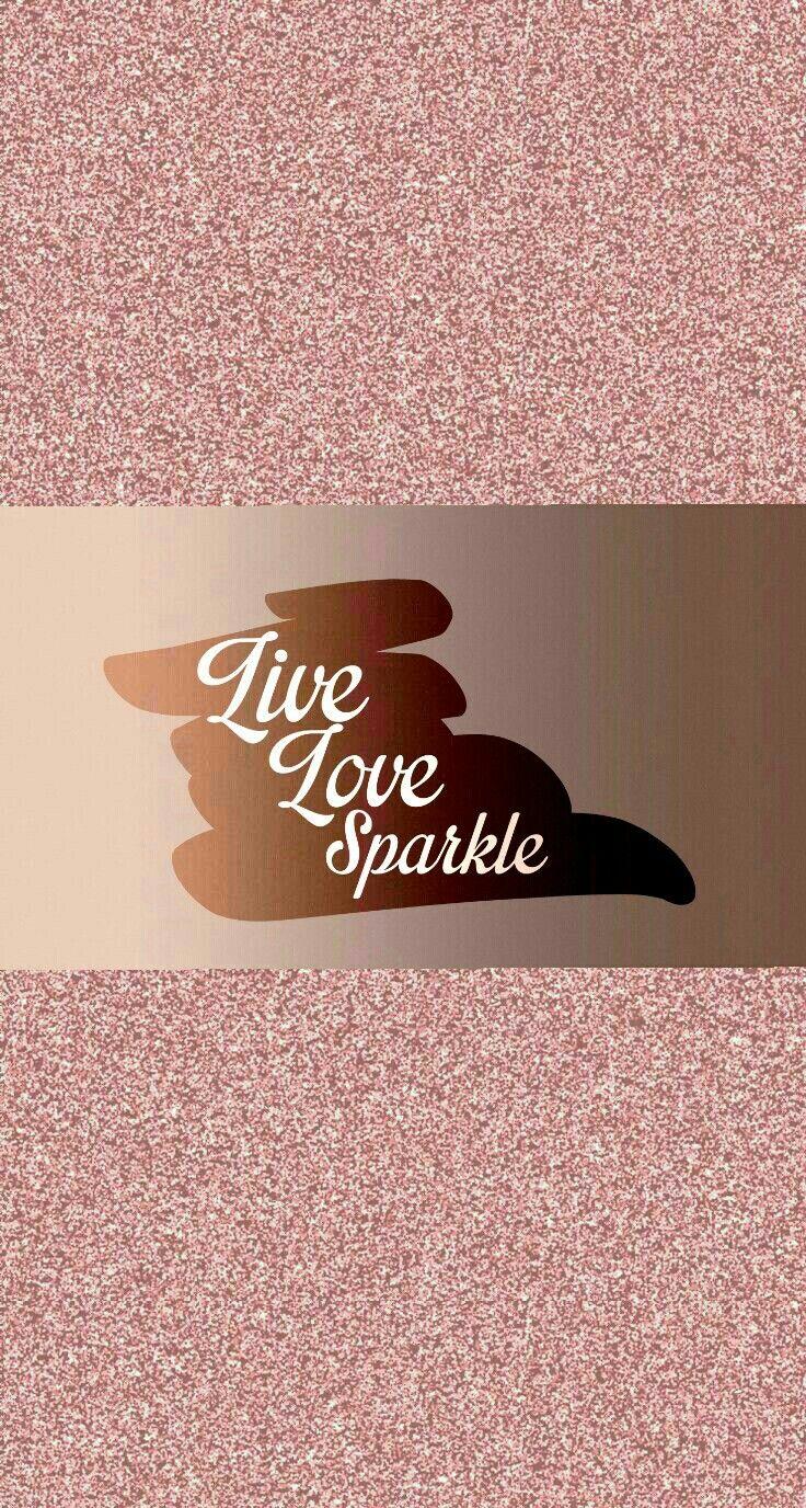 Glitter Wallpaper Iphone Rose Gold
