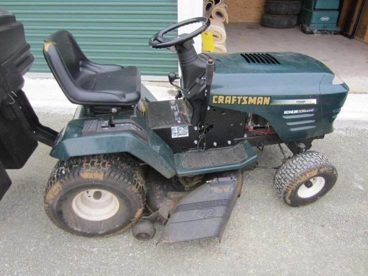 Craftsman Riding Lawn Mower with Bagger - ONLINE ONLY AUCTION - Ending March 09, 2015. Little Suamico near Green Bay, Wisconsin.