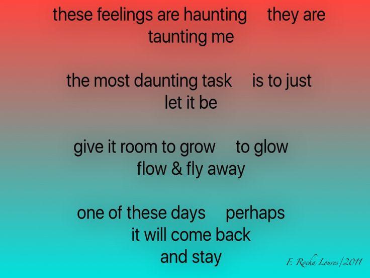 Ah, these feelings!