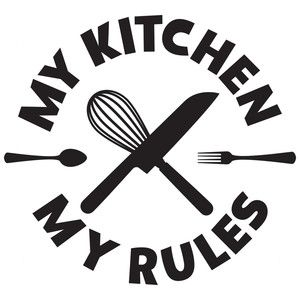 my kitchen my rules. Order your vinyl wrapped canvas at Boardman Printing. Visit www.facebook.com/BoardmanPrinting/