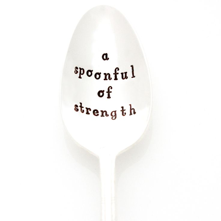 A Spoonful of Strength hand stamped silverware