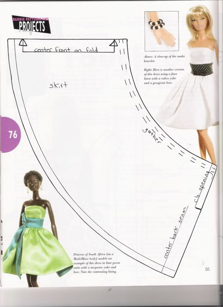 Free Printable  Fashion Doll Clothes Patterns