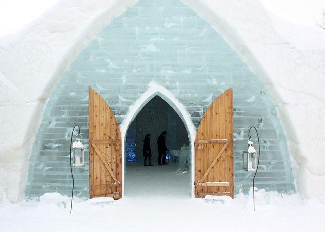 Quebec City's Ice Hotel: A Unique Way to Enjoy Winter: Outside Quebec City's Ice Hotel