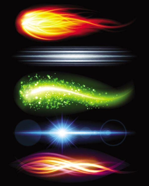Великолепная яркие световые эффекты вектор 5