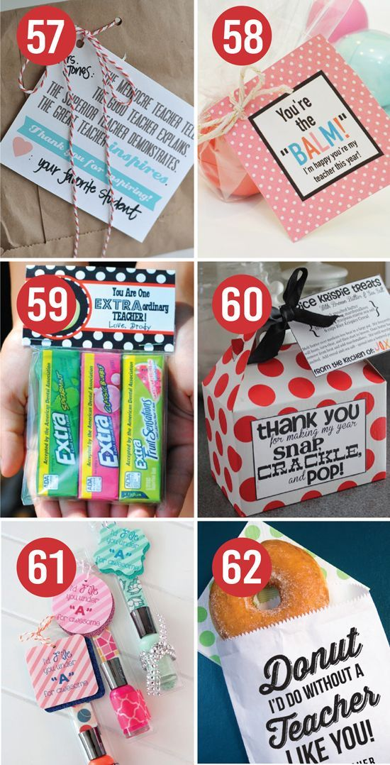 Quick and Easy Teacher Appreciation Gift Ideas