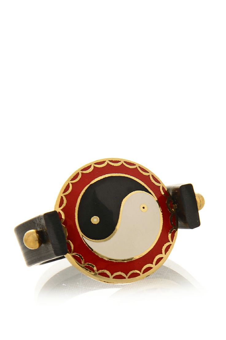 ALBERTO GALLETI 	 ZENIA Black Red Rubber Ring   Price: € 23.00