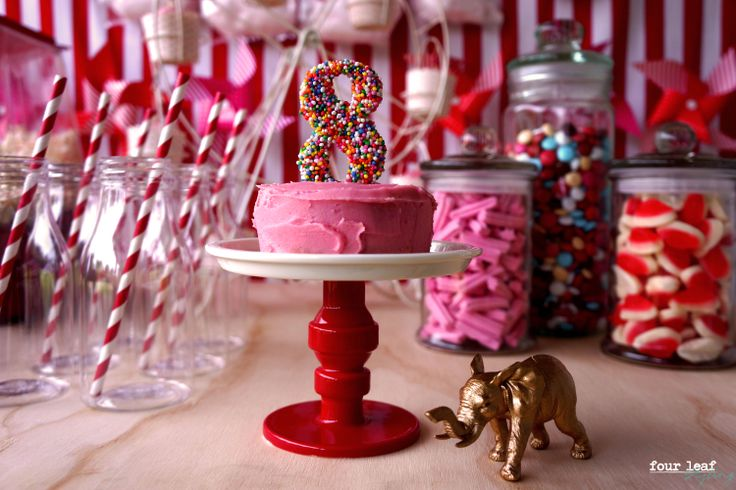 Sienna's 8th birthday carnival. Pink & Red colour palette | Event Styling by Four Leaf