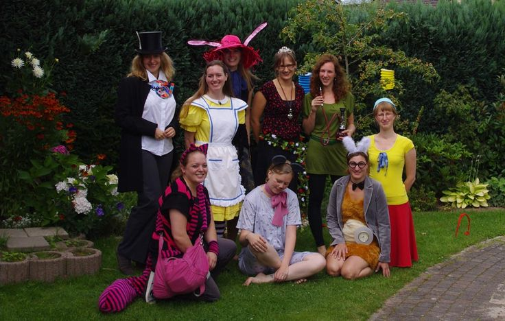 Me and my friends, all dressed up as characters from Alice in Wonderland! Of course I had to be Alice. :-)