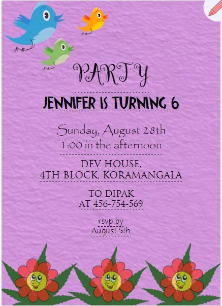 Best Kids Birthday Party Invitations Images On Pinterest - Birthday party invitation ecards