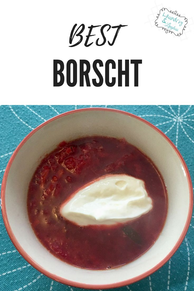 The greatest dill borscht soup!  A family recipe you'll want too!
