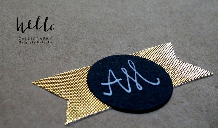 AM the gold by HELLO calligraphy .Małgosia Małecka.