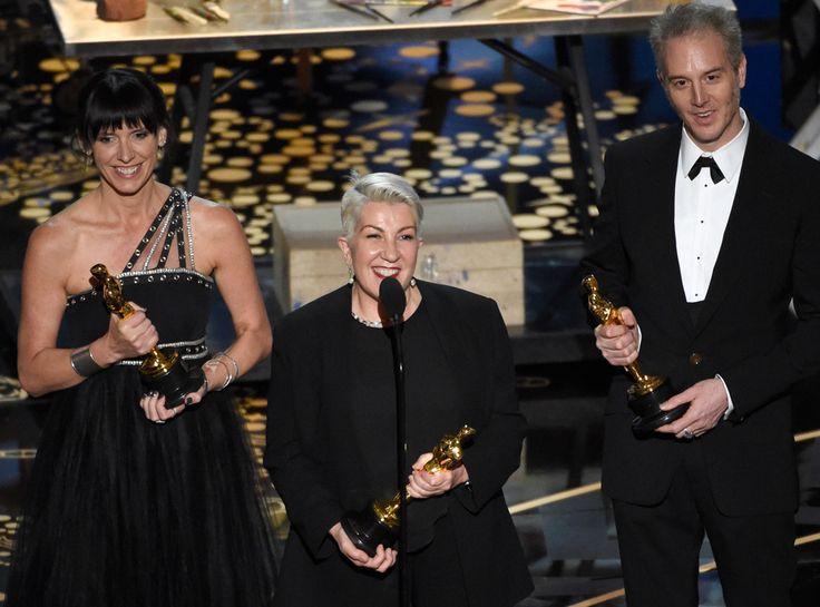 Elka Wardega, Lesley Vanderwalt & Damian Martin from Oscars 2016: Winners | E! Online