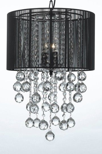 Crystal 3 Light Chandelier with Large Black Shade and Balls by Gallery Lighting on @HauteLook: Very, very inexpensive and super cool.  Only available for a short time.