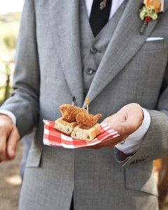 Wedding Food Ideas Southern Delicacy Mini Fried Chicken And Waffles On Weddings