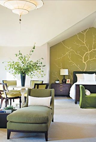 I Really Like The Painting Of The Tree Branch On Accent Wall Also The Color