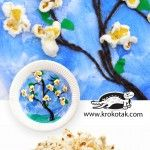 Spring DIY: Popcorns and Paper Plates creating Cherry Trees in Blossom......Your Own Cherry Blossom Tree Art.