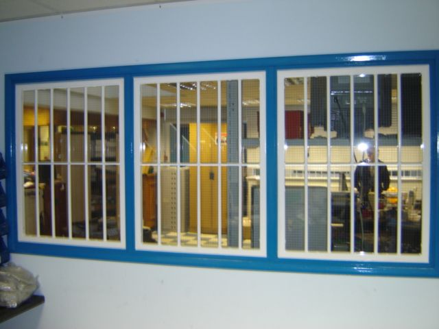 RSG2000 security window bars fitted to an office in Central London.