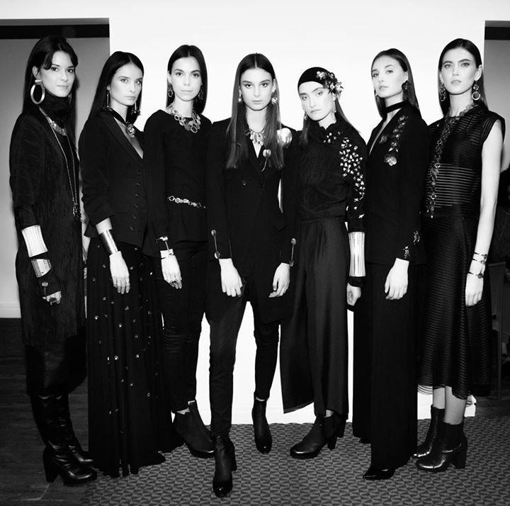 Models at the Orska fashion show at Stary Browar. PLANTIS collection by Anna Orska, photo by Aga Szenrok.