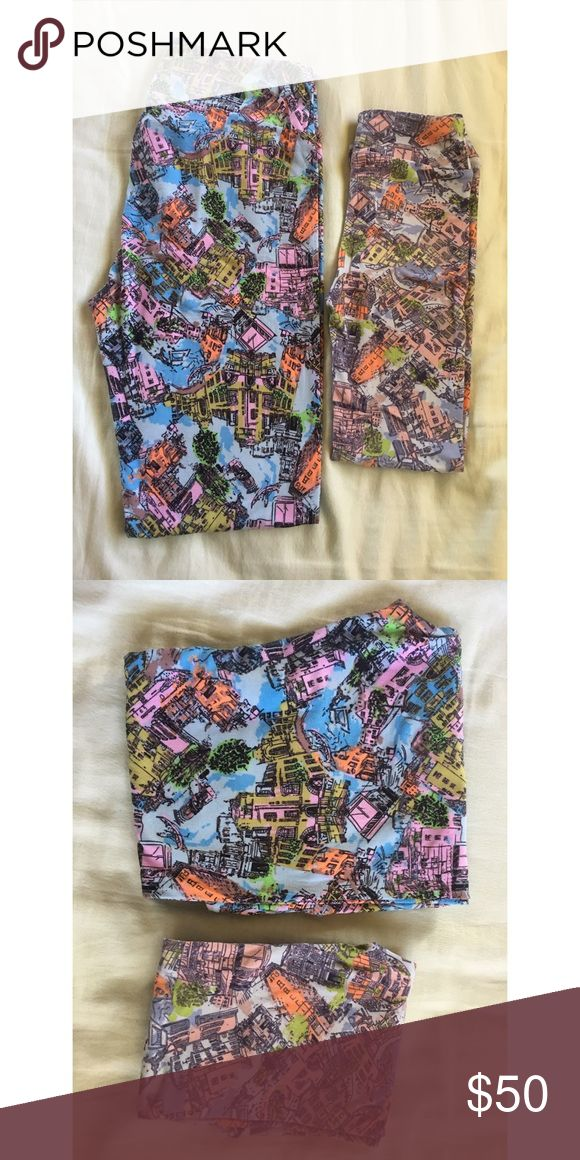Mommy and Me Venice LuLaRoe Leggings (TC & L/XL) New, never worn or tried on, pairs of the most buttery soft LuLaRoe Leggings! Listing is for a Mommy and me set, adult leggings are TC and Kids leggings are L/XL. The sizes are TC or Tall and Curvy can fit sizes 12 - 22 and L/XL for kids which can fit sizes 8 - 14. (Sizes are per LuLaRoe sizing charts).  Leggings have been inspected for any defects and are in mint condition.  Comes from a pet-free and smoke-free home. A must have for Mommy and…