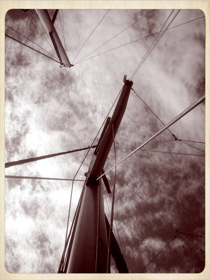 volos sky from a sailing yacht