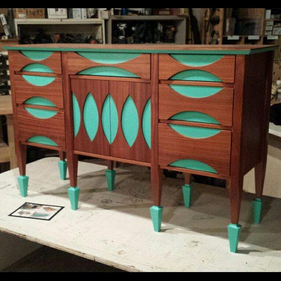 Changing Table // Buffet // Mid-Century Modern // by brassandbark