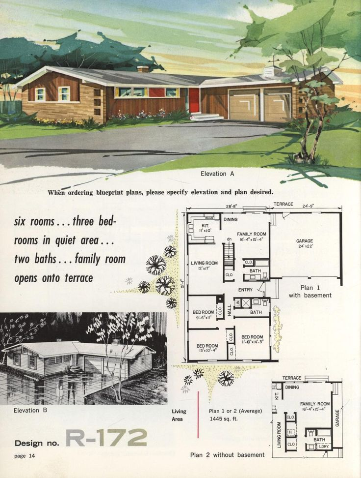 220 best images about vintage house plans 1960s on for Vintage ranch house plans