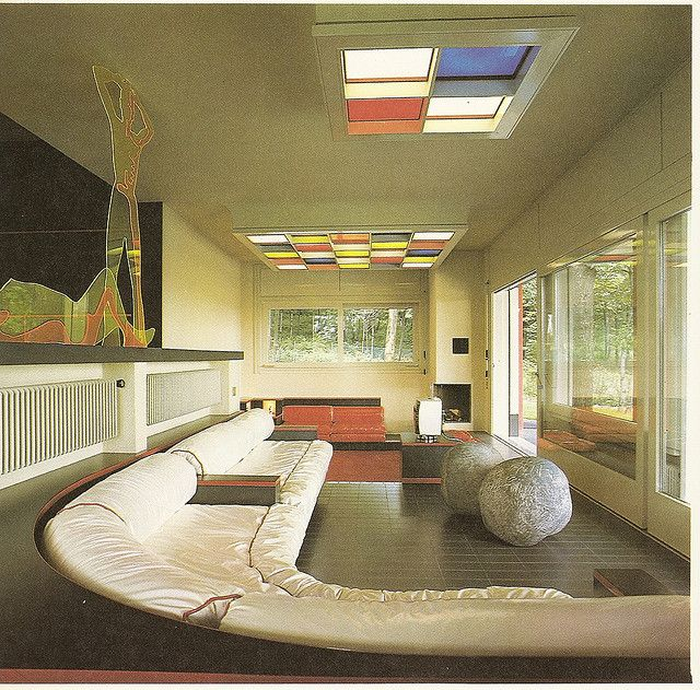 "Architect Ico Parsi, from ""Decorative Art and Modern Interiors"", Studio Vista 1974. Living room"