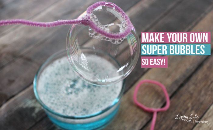 Have fun this summer and learn how to make super bubbles to keep your kids engaged and playing outdoors all summer long, they'll love it.