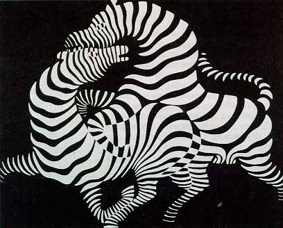 Zebra by  Victor Vasarely #Painting #Victor_Vasarely