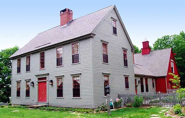 Classic colonial with options for Farmhouse colonial house plans