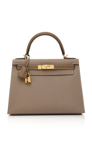 Hermès 28cm Etoupe And Gris Asphalt Epsom Leather Special Order Horseshoe  Sellier Kelly 5db69c5875