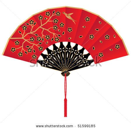 flower silk chinese fan