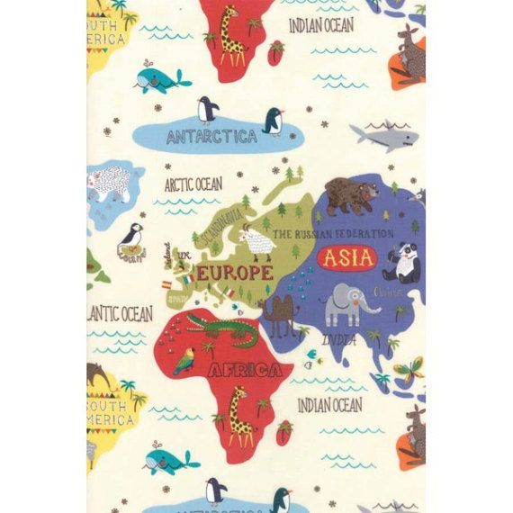 World map on cream from moda fabrics hello world fabric world map on cream from moda fabrics hello world fabric children pinterest sewing terms fedex express and postal code gumiabroncs Images