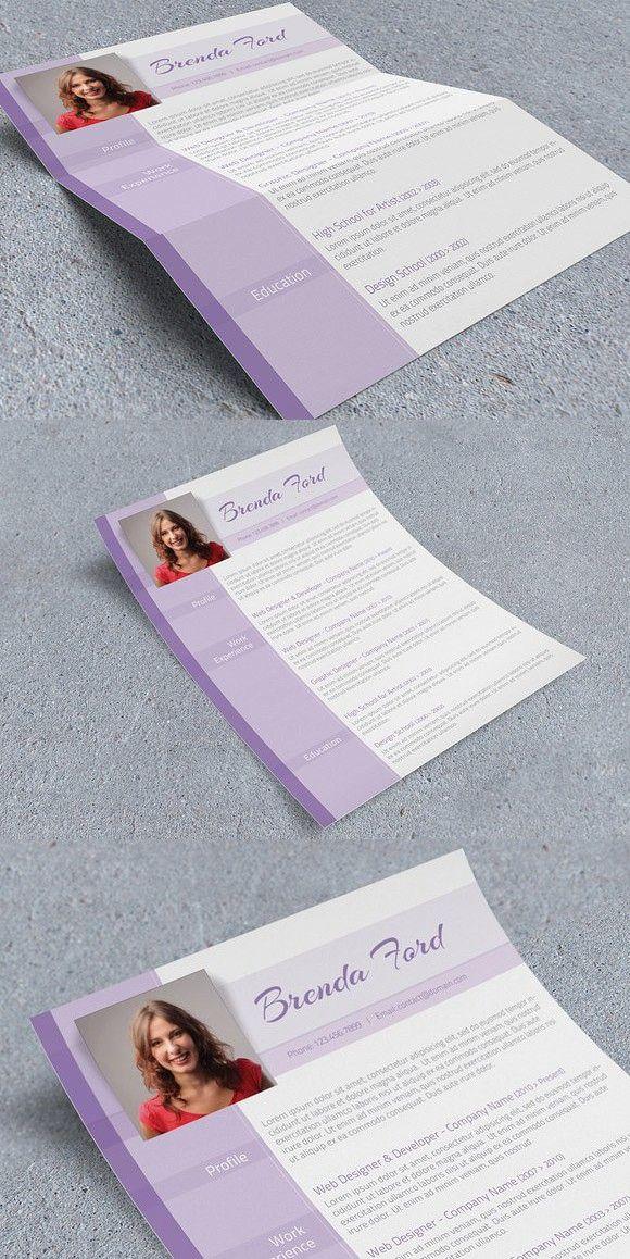 Purple Cv Template Cv Template Templates Resume Template Professional