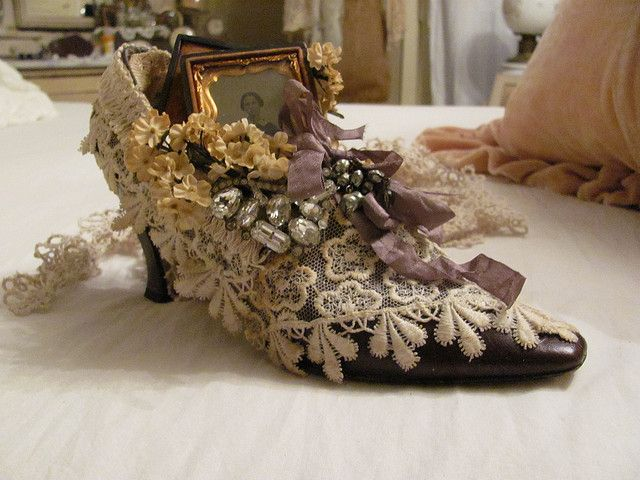 """altered shoe..""""the lady in the shoe"""" by Tin Rabbit, via Flickr"""